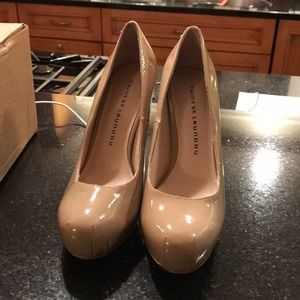 Chinese laundry nude patent heels pumps 8.5
